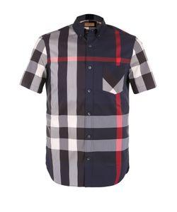 Burberry | Хлопковая Рубашка В Клетку С Короткими Рукавами