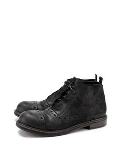 O.X.S. | Кожаные Ботинки С Брогированием На Шнуровке .