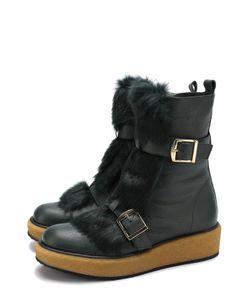 Paloma Barceló | Кожаные Ботинки С Отделкой Из Меха Кролика