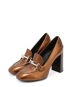 Tod'S | Кожаные Туфли С Пряжкой На Устойчивом Каблуке
