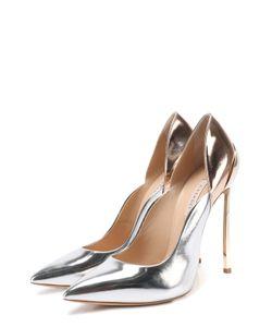 Casadei | Туфли Из Металлизировнной Кожи На Шпильке Blade