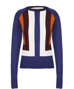 Marni | Облегающий Пуловер С Контрастной Отделкой