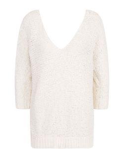 Tegin | Пуловер Фактурной Вязки С V-Образным Вырезом