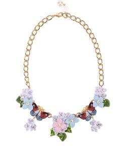 Dolce & Gabbana | Колье С Цветочным Декором И Кристаллами Swarovski