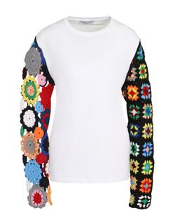 J.W. Anderson | Пуловер С Контрастными Кружевными Рукавами