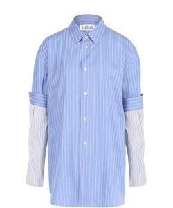 Maison Margiela   Хлопковая Блуза Свободного Кроя В Полоску