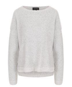St. John | Кашемировый Пуловер С Круглым Вырезом И Пайетками
