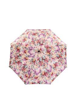 Pasotti Ombrelli | Складной Зонт С Цветочным Принтом И Декором На Ручке