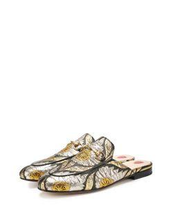 Gucci | Текстильные Сабо Princetown С Вышивкой