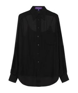 Ralph Lauren | Шелковая Полупрозрачная Блуза Прямого Кроя