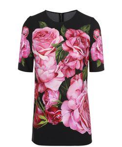 Dolce & Gabbana | Топ Прямого Кроя С Цветочным Принтом И Укороченным Рукавом Dolce