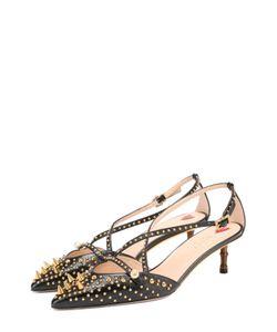 Gucci | Кожаные Туфли Unia С Шипами На Декорированном Каблуке