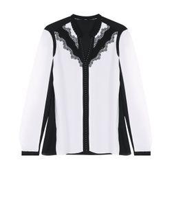 Elie Tahari | Шелковая Блуза С Контрастной Кружевной Отделкой