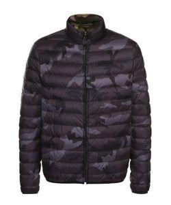 Valentino | Утепленная Стеганая Куртка На Молнии С Камуфляжным Принтом