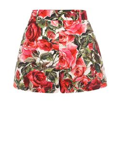 Dolce & Gabbana | Мини-Шорты С Ярким Цветочным Принтом