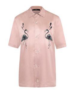 Diesel | Рубашка С Короткими Рукавами И Контрастной Вышивкой