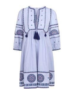 TALITHA | Хлопковое Мини-Платье С Контрастной Вышивкой