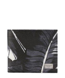 Dolce & Gabbana | Кожаное Портмоне С Принтом И Отделениями Для Кредитных Карт Dolce