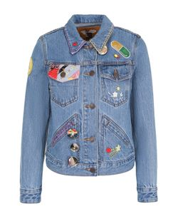 Marc Jacobs | Джинсовая Куртка С Укороченным Рукавом И Нашивками