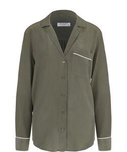 Equipment | Шелковая Блуза В Пижамном Стиле С Накладным Карманом