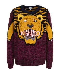 Kenzo | Шерстяной Пуловер С Круглым Вырезом И Принтом