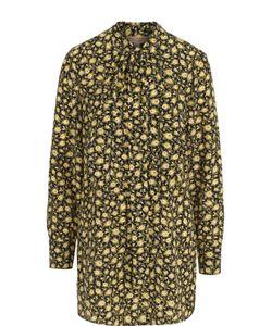 Burberry | Шелковая Блуза Свободного Кроя С Воротником Аскот