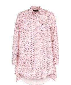 Dsquared2 | Удлиненная Хлопковая Рубашка С Принтом Асимметричного Кроя