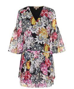 Burberry | Шелковое Мини-Платье С Цветочным Принтом
