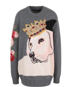 Dolce & Gabbana | Удлиненный Кашемировый Пуловер С Принтом