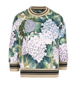 Dolce & Gabbana | Свитшот С Цветочным Принтом И Укороченным Рукавом