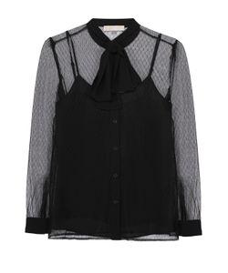 Michael Michael Kors | Полупрозрачная Блуза Прямого Кроя С Воротником-Аскот