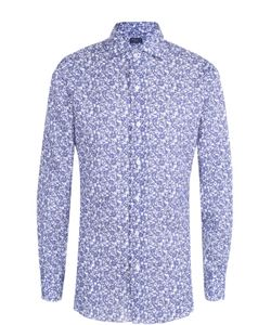 Finamore 1925 | Рубашка Из Смеси Хлопка И Льна С Принтом