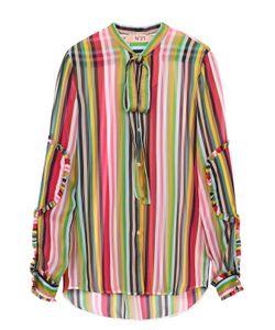No. 21 | Шелковая Блуза В Контрастную Полоску С Воротником-Аскот