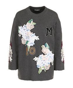 Dolce & Gabbana | Толстовка С Укороченным Рукавом И Фактурной Отделкой