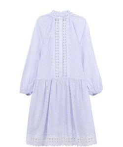 Zimmermann | Платье-Рубашка Свободного Кроя С Кружевными Вставками