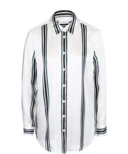 Equipment | Шелковая Блуза Прямого Кроя В Полоску