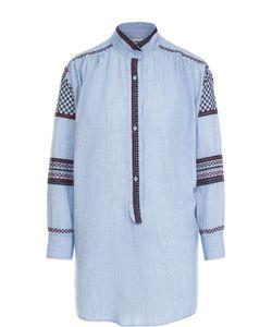 Zadig & Voltaire | Блуза Прямого Кроя С Контрастной Вышивкой Zadigvoltaire