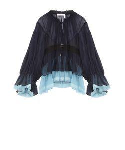 Chloe | Укороченная Шелковая Блуза С Оборками Chloé