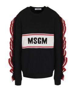 MSGM | Хлопковый Пуловер С Оборками И Круглым Вырезом