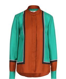 Diane Von Furstenberg | Шелковая Блуза С Воротником-Стойкой