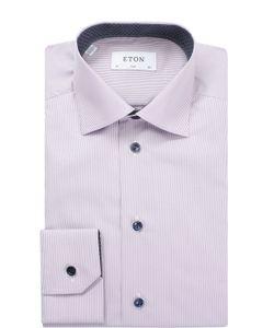 Eton | Хлопковая Приталенная Сорочка С Воротником Кент