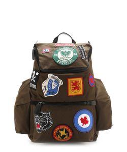 Dsquared2 | Текстильный Рюкзак С Контрастными Нашивками