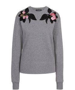 Dolce & Gabbana | Пуловер Прямого Кроя С Контрастной Фактурной Отделкой