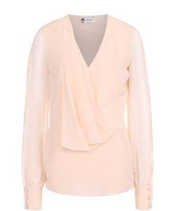 Lanvin   Шелковая Блуза С Прозрачными Рукавами