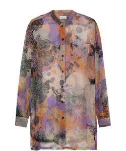 Dries Van Noten | Шелковая Блуза Прямого Кроя С Принтом