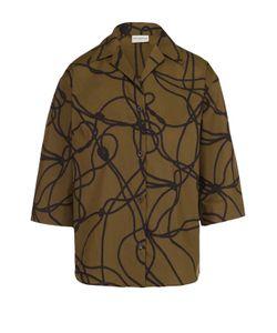 Dries Van Noten | Блуза Прямого Кроя С Укороченным Рукавом