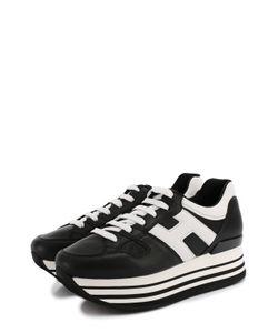 Hogan | Кожаные Кроссовки На Контрастной Платформе