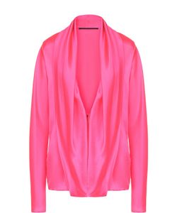 Haider Ackermann | Шелковая Блуза Свободного Кроя С Глубоким V-Образным Вырезом