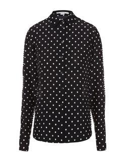 Stella Mccartney | Шелковая Блуза Прямого Кроя С Контрастным Принтом