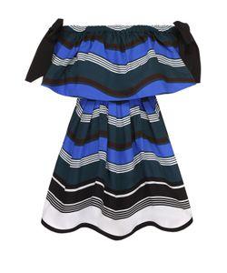 Fendi | Приталенное Мини-Платье С Открытыми Плечами И Контрастными Бантами